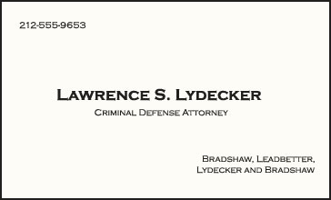 Lawrence Lydecker Attorney at Law