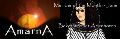 June member of the month for Amarna