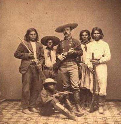 John Clum with Apaches 1874