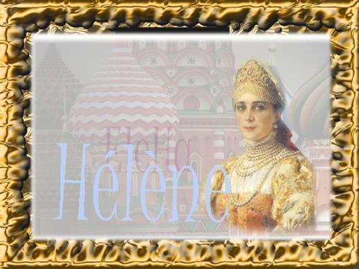 Countess Elena Vladimirovna Saltykova aka Mademoiselle H�l�ne