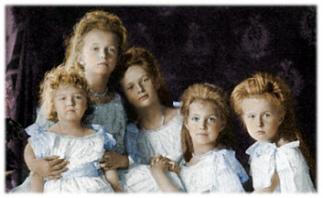 Alexei, Olga, Tatiana, Mashka and me, 1906